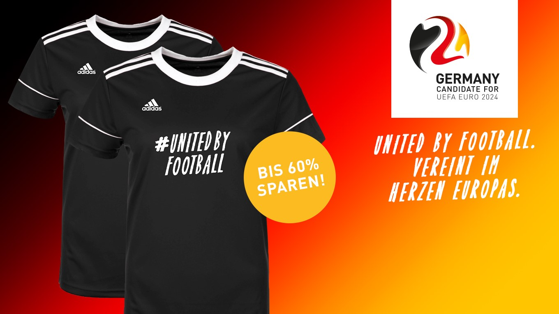 Holt euch die #UnitedByFootball-Trikots!
