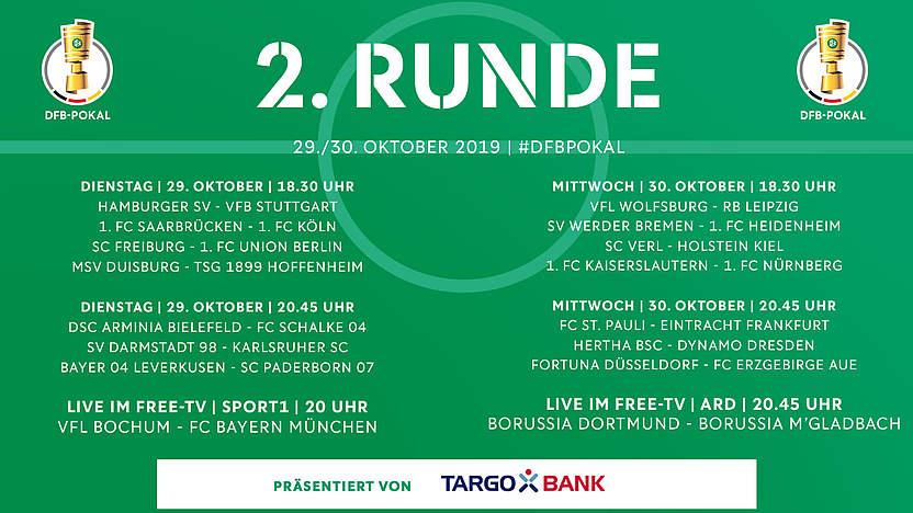 2 Runde Dfb Pokal Ansetzungen