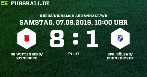 SG Wittenberg/ Reinsdorf - Spg. Gölzau/Fuhnekicker Ergebnis: B-Junioren Kreisliga - B-Junioren - 07.09.2019 - 1