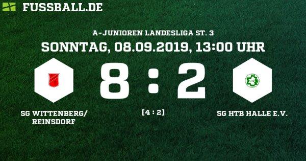 SG Wittenberg/Reinsdorf - SG HTB Halle e.V. Ergebnis: A-Junioren Landesliga - A-Junioren - 08.09.2019 - 1