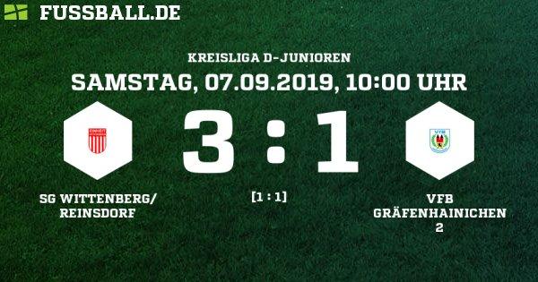 SG Wittenberg/ Reinsdorf - VfB Gräfenhainichen 2 Ergebnis: D-Junioren Kreisliga - D-Junioren - 07.09.2019 - 1