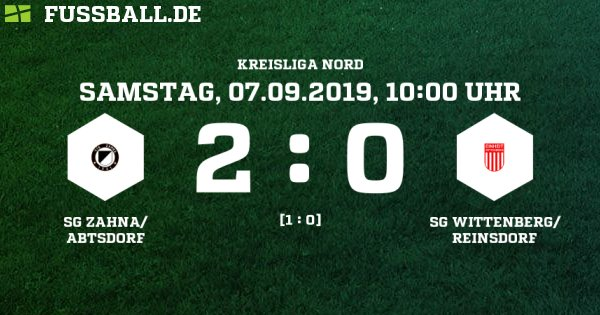 SG Zahna/Abtsdorf - SG Wittenberg/ Reinsdorf Ergebnis: E-Junioren Kreisliga - E-Junioren - 07.09.2019 - 1